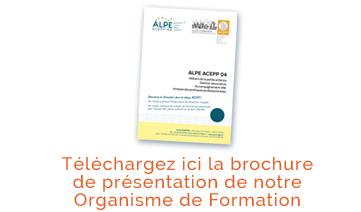Brochure Organisme de Formation ALPE ACEPP 04